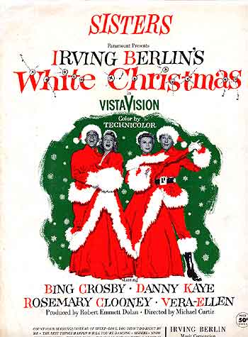 songwriter irving berlin old and new songs in the score of white christmas 1954 rosemary clooney and vera ellen shared sisters then co stars bing - Where Was White Christmas Filmed